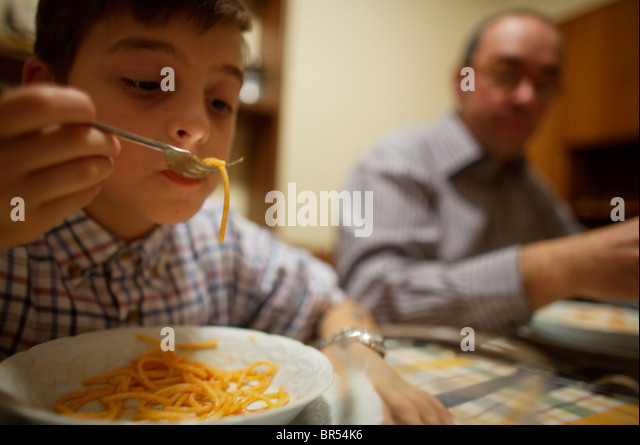 Pasta in Italy - Stock Image