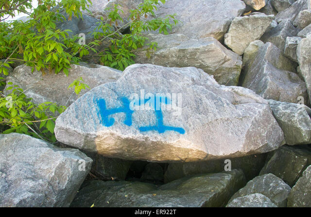 Ironic landscape stock photos ironic landscape stock for Spray paint rocks for garden