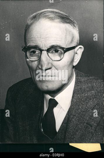 Oct. 10, 1959 - Canadian Minister of Internal Affairs in Paris: Howard Green, The Canadian Minister of External - Stock Image