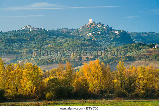 Castiglione D'Orcia, Val D'Orcia, Tuscany, Italy. - Stock Image
