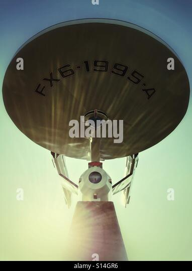 A Star Trek style starship, the town mascot in Vulcan, Canada. - Stock Image