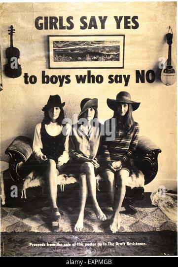 1960s USA Anti-War Poster - Stock Image
