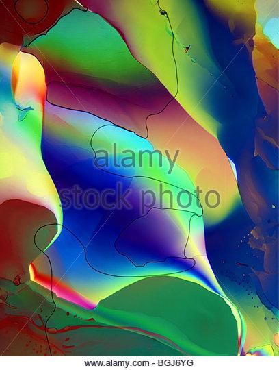 Dimethylnaphtalin - 100x, polychrome - Stock Image