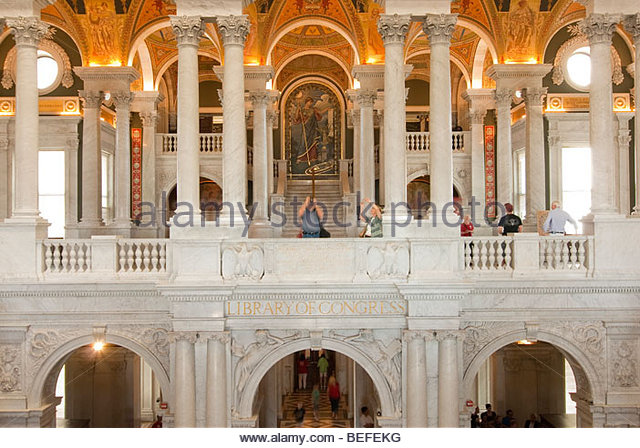 Great Hall of the Library of Congress in Washington DC - Stock-Bilder