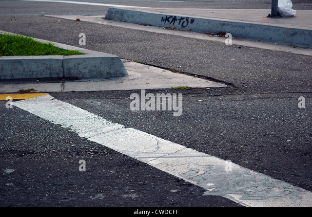 Urban Crosswalk - Stock Image
