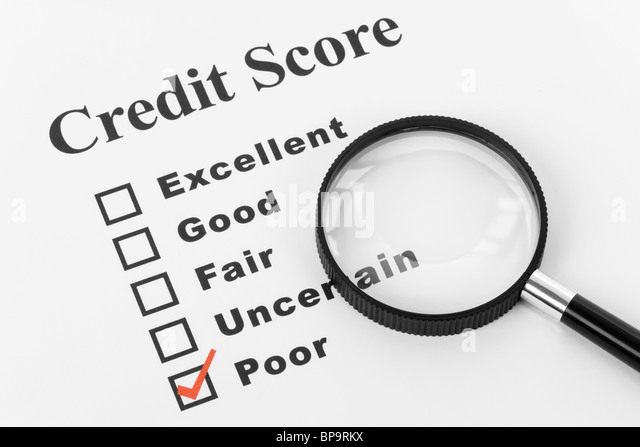 Poor Credit, Business Concept for Background - Stock Image