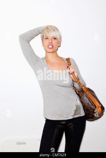 Woman with handbag - Stock Image
