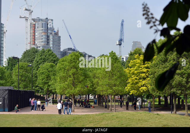 Vauxhall Pleasure gardens, London, UK - Stock Image