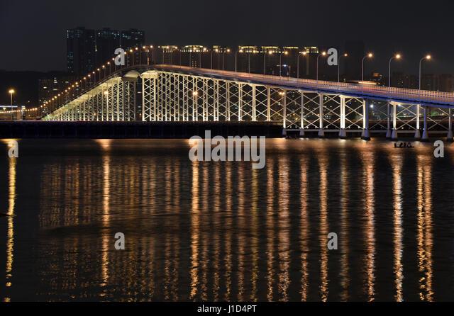 Governador Nobre de Carvalho Bridge, Macau, China - Stock Image