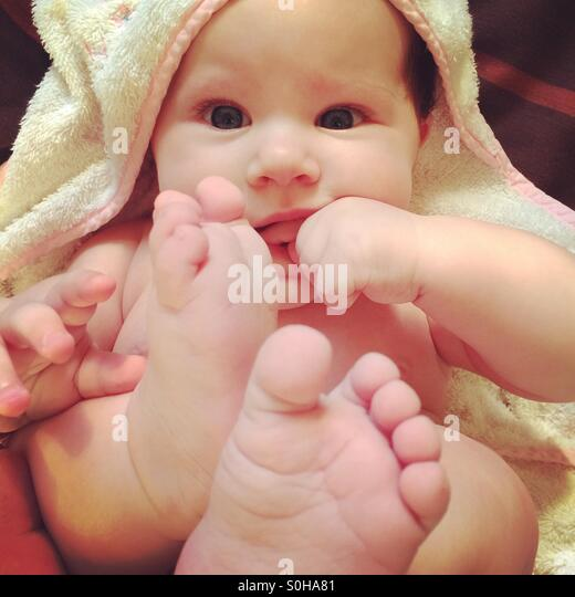 Cute baby - Stock Image