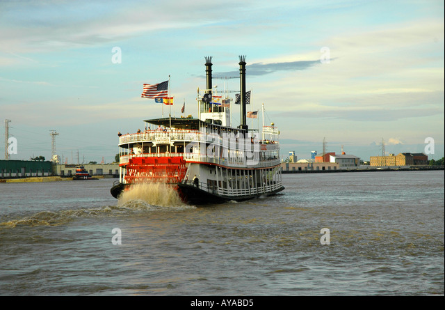 New Orleans LA Louisiana Steamboat - Stock Image