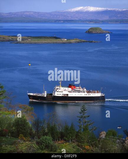 Archive image of the M.V Columba departing Oban Bay, 1970's - Stock-Bilder