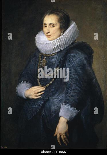 Anthony Van Dyck - Unknown Lady - Stock Image