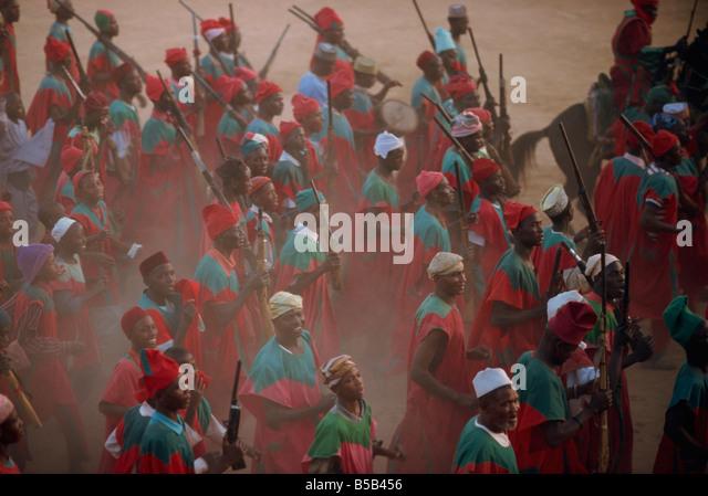 Durbar festival Kano Nigeria West Africa Africa - Stock-Bilder