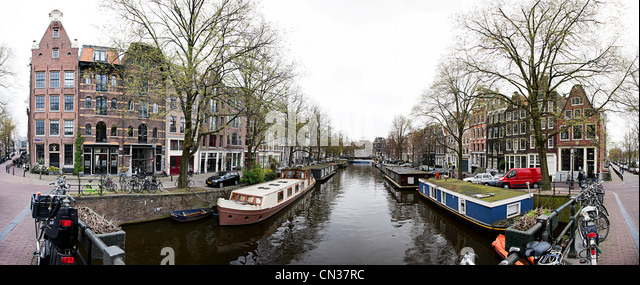 Herengracht Canal, Amsterdam, Netherlands - Stock Image