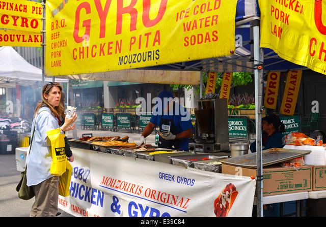 Ninth Avenue Food Festival in Manhattan New York, Gyro - Stock Image