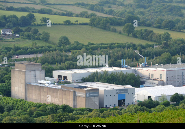 The General Electric GE Aviation site at Nantgarw, South Wales. - Stock Image