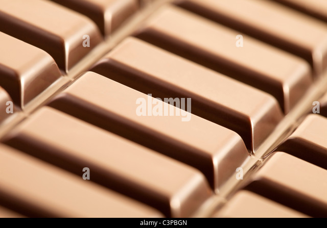 Chocolate bar, close-up, full frame - Stock Image