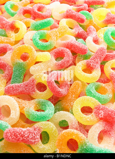fizzy candy dummies - Stock Image