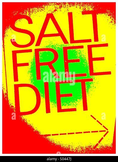 For salt free diet go this way - Stock-Bilder