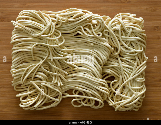 Egg noodles - Stock Image
