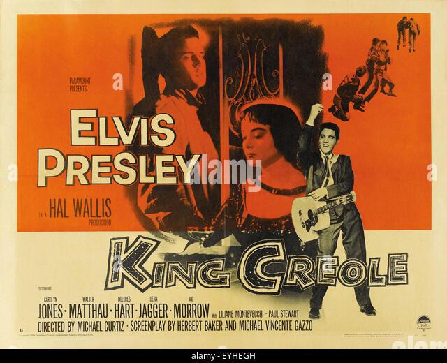 King Creole - Elvis Presley - Movie Poster - Stock Image