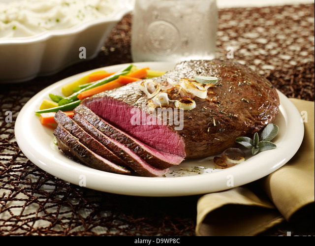 sirloin tip roast cut - Stock Image