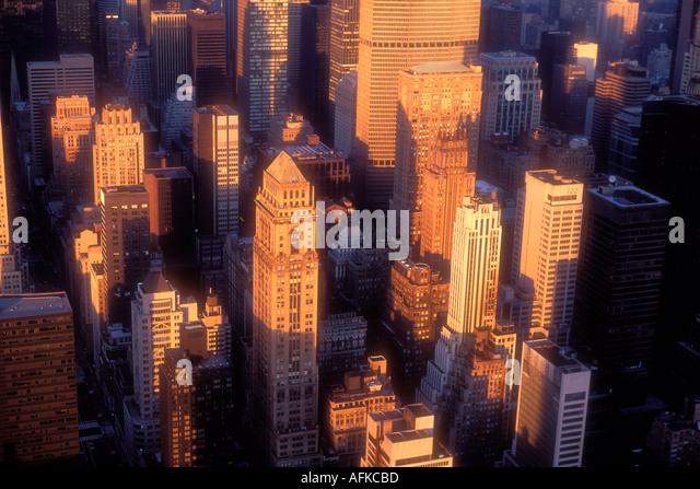 Manhattan skyline in New York City USA - Stock Image