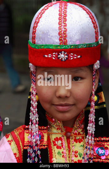 Germany Berlin Carnival of Cultures mongolian child - Stock-Bilder