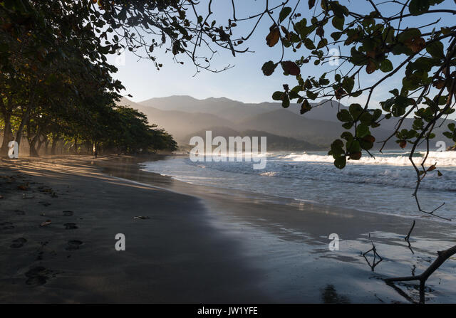 Castelhanos Beach, Ilhabela, Brazil - Stock Image