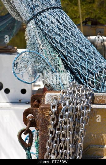 Fishing boat netting stock photos fishing boat netting for Drop net fishing