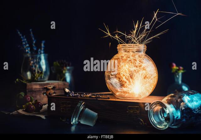 Sparkling flower - Stock Image