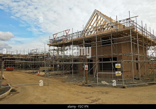 Half built house construction uk stock photos half built for Housing construction companies