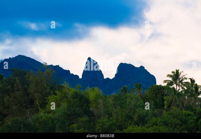 The Sleeping Giant Kapaa Island of Kauai Hawaii - Stock-Bilder