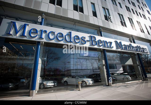 Mercedes benz dealership stock photos mercedes benz for Mercedes benz manhattan parts