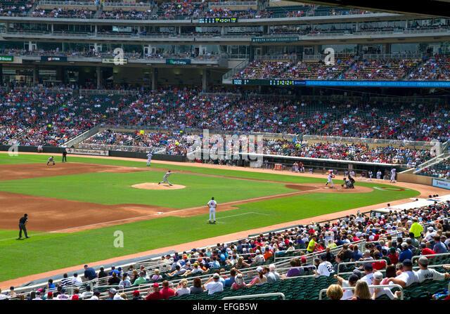 The baseball park at Target Field in Minneapolis, Minnesota, USA. - Stock Image