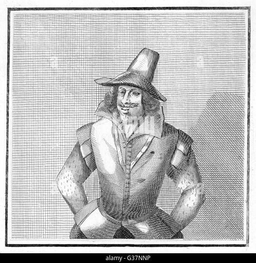 Guy Fawkes-  English conspirator and  gunpowder plotter.    1606 - Stock Image