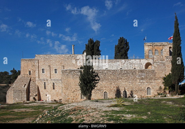Israel,Jerusalem,St. Cross Monastery,Greek Orthodox Patriarchate,fortified walls - Stock Image