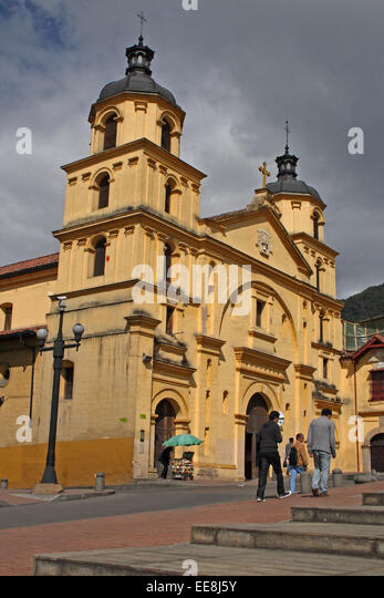 The Church of Our Lady of Candelaria, in Bogota, Colombia. - Stock Image