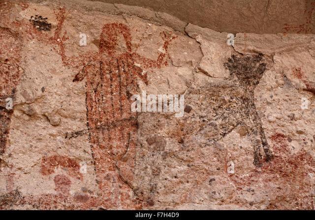 pr5428-D. petroglyphs and rock paintings of Santa Marta, which depict people, animals (deer, rabbits, fish, more). - Stock-Bilder