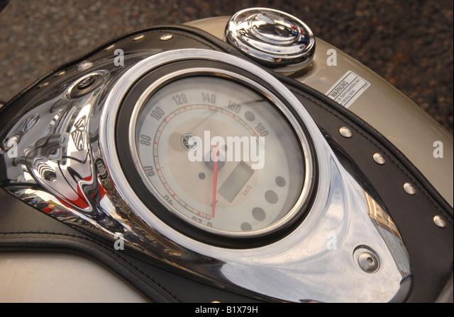motorcycle dashboard - Stock Image