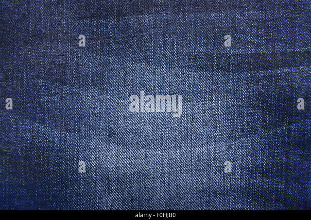 Texture of blue jeans background - Stock Image