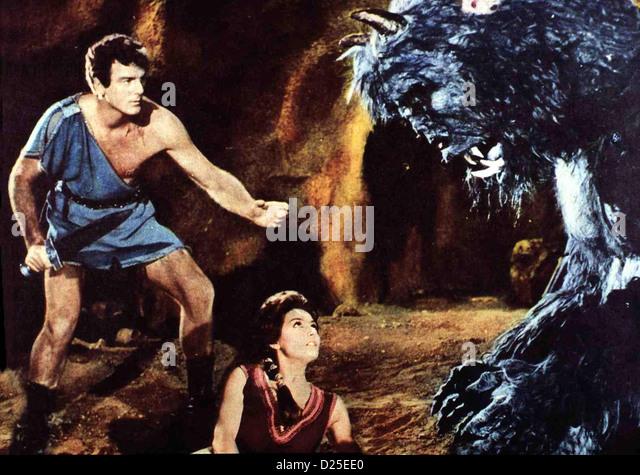 Theseus, Held Von Hellas  Teseo Conro Il Minotauro  Bob Mathias, Rosanna Schiaffino Prinz Theseus (Bob Mathias) - Stock Image