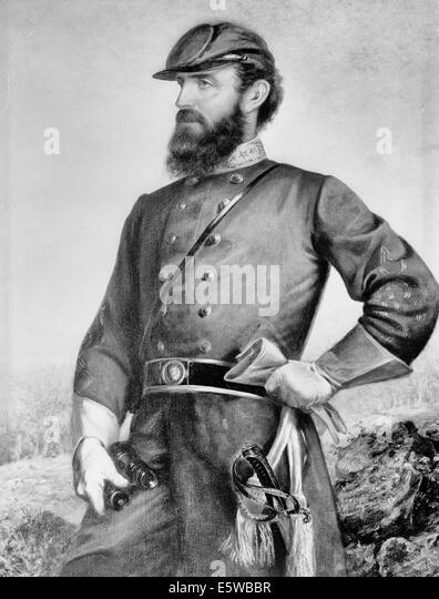 General Thomas 'Stonewall' Jackson, Confederate General - Stock Image
