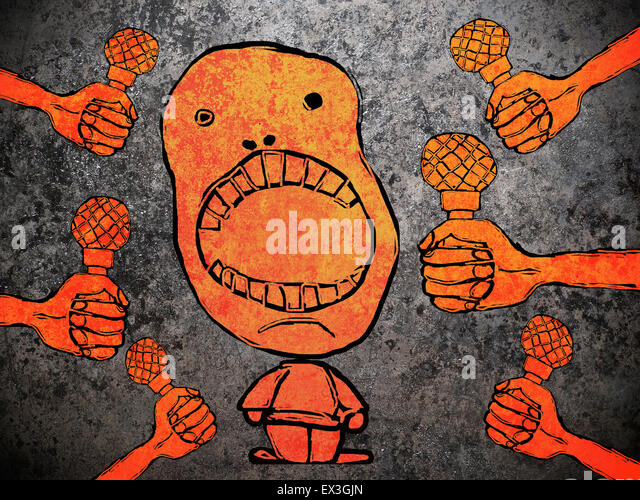 talking to media illustration concept - Stock Image
