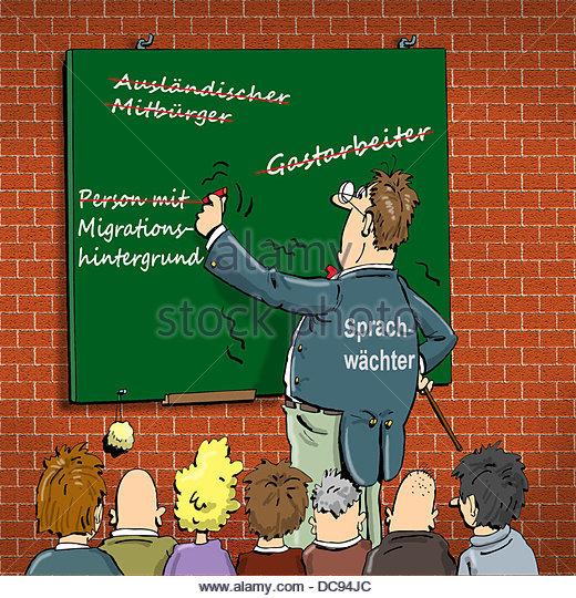 Teacher correct German - Stock-Bilder
