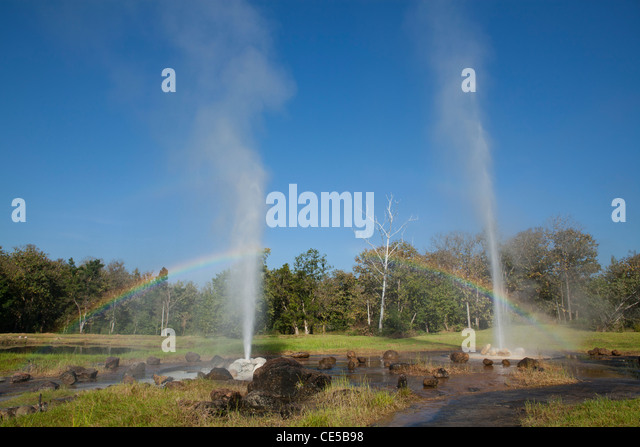 Sankamphang Hot Springs - water comes from a source deep beneath the ground and is near 100 degrees centigrade as - Stock Image