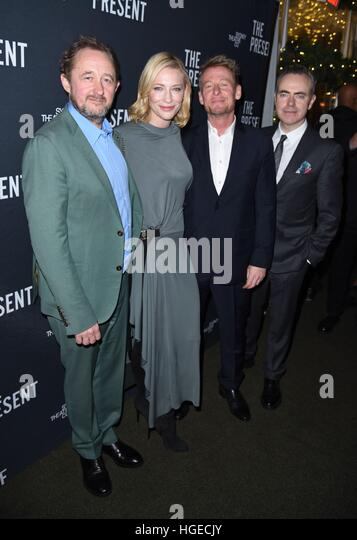 New York, NY, USA. 8th Jan, 2017. Andrew Upton, Cate Blanchett, Richard Roxburgh, John Crowley in attendance for - Stock Image