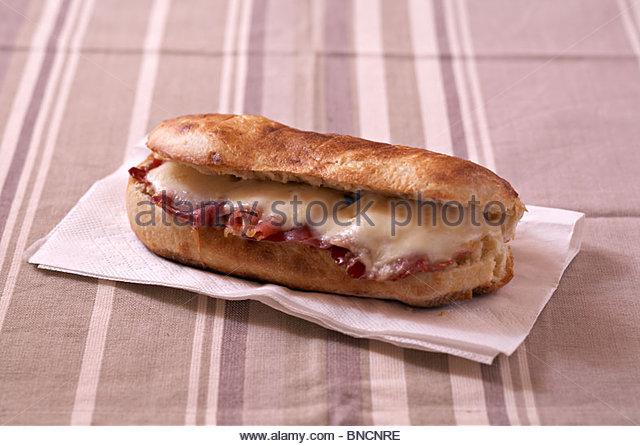Ham mozzarella panini - Stock Image