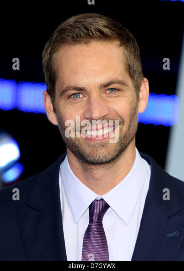 PAUL WALKER FAST & FURIOUS 6. WORLD PREMIERE LEICESTER SQUARE LONDON ENGLAND UK 07 May 2013 - Stock Image